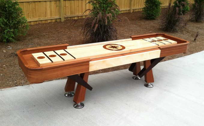 Diy Wooden Traditional Game Shuffleboard Table For Sale