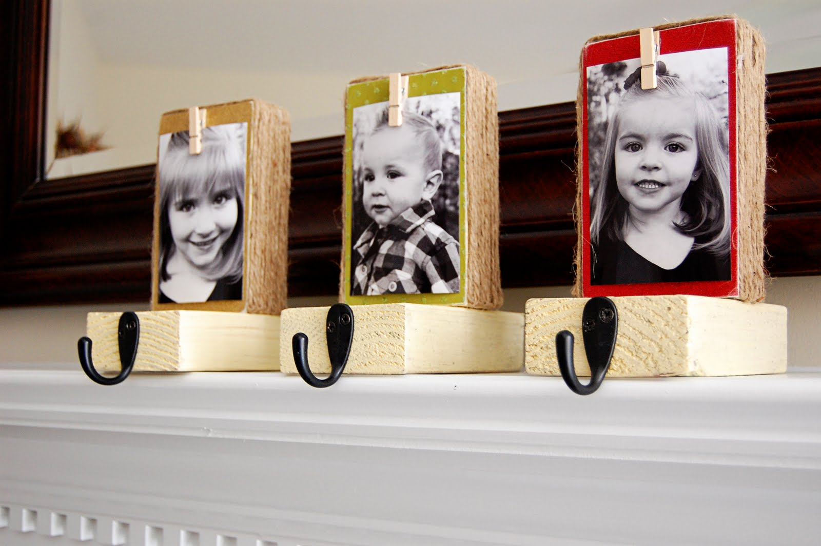 diy your christmas stocking hanger with background made of wood with your photograph for christmas decoration ideas