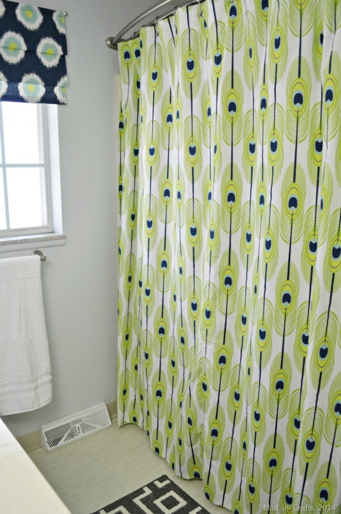 Double Curved Shower Curtain Rod With Charming Curtain And White Wall With White Window For Bathroom Decor Ideas