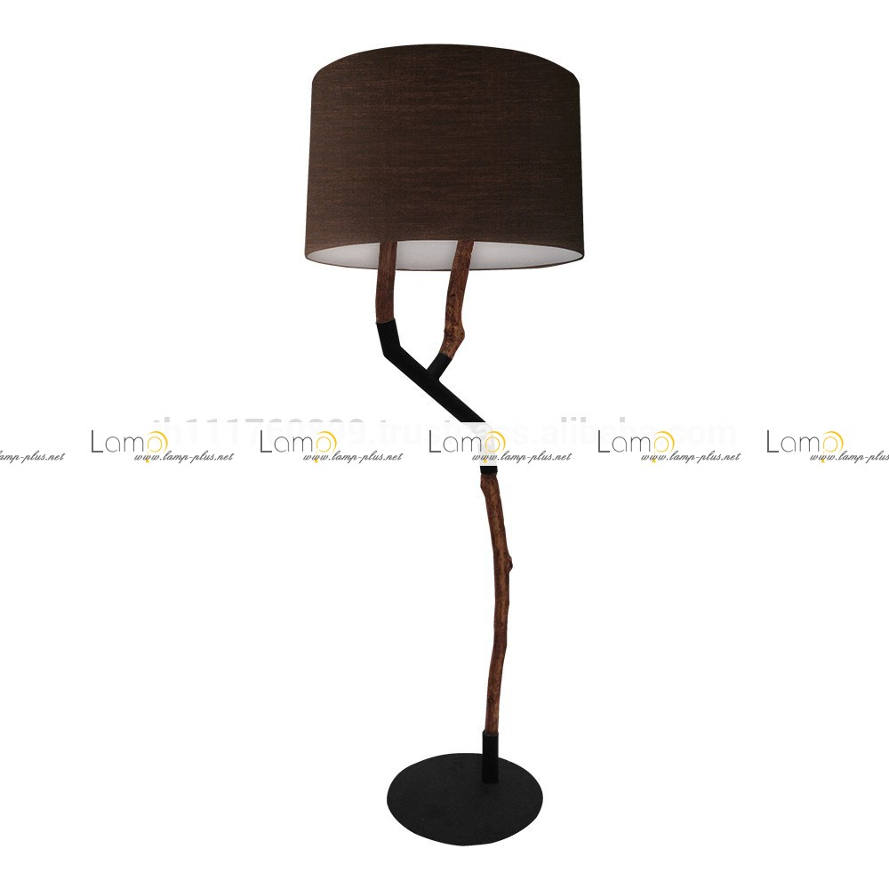 driftwood floor lamp in dark brown theme for home furniture ideas