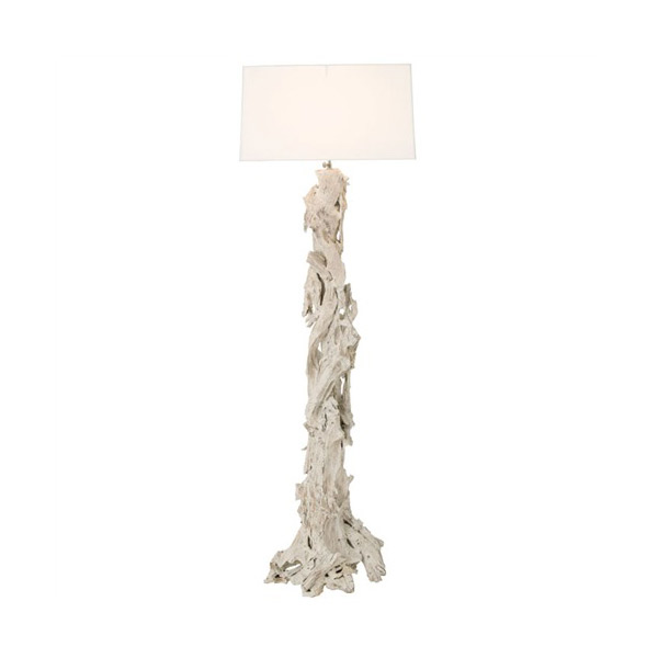 driftwood floor lamp in white for home furniture ideas