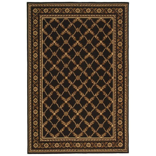 elegant black lowes rugs with floral motif for floor decor ideas