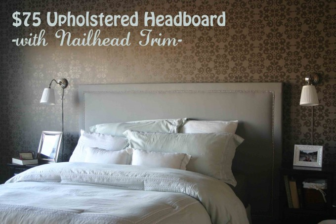 Elegant Upholstered Headboards In Gainsboro Color Matched With White Bedding Plus Pillow For Bed Decor Ideas