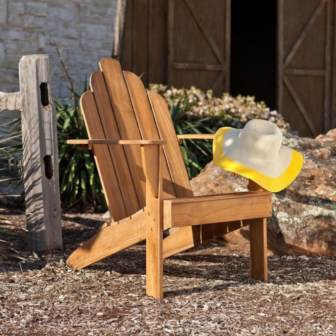 Excellent Teak Adirondack Chairs For Outdoor Furniture Ideas