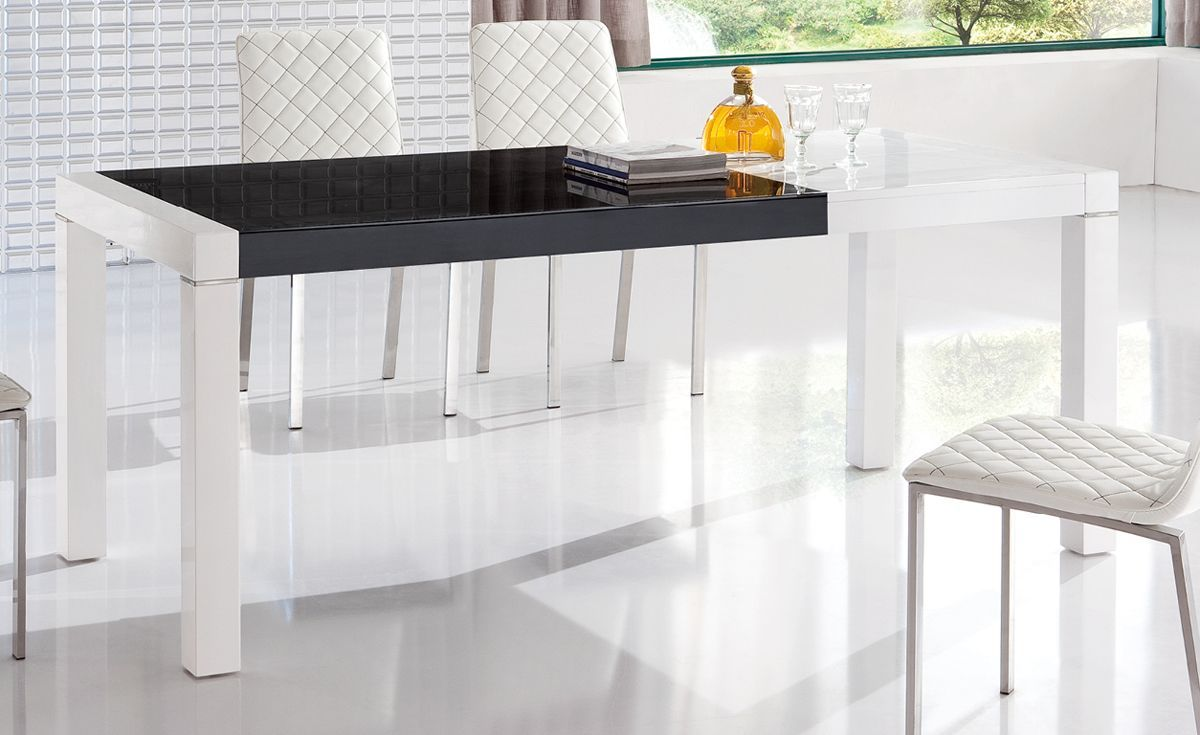 Expandable Dining Table Set In White For Modern Dining Room Furniture Ideas