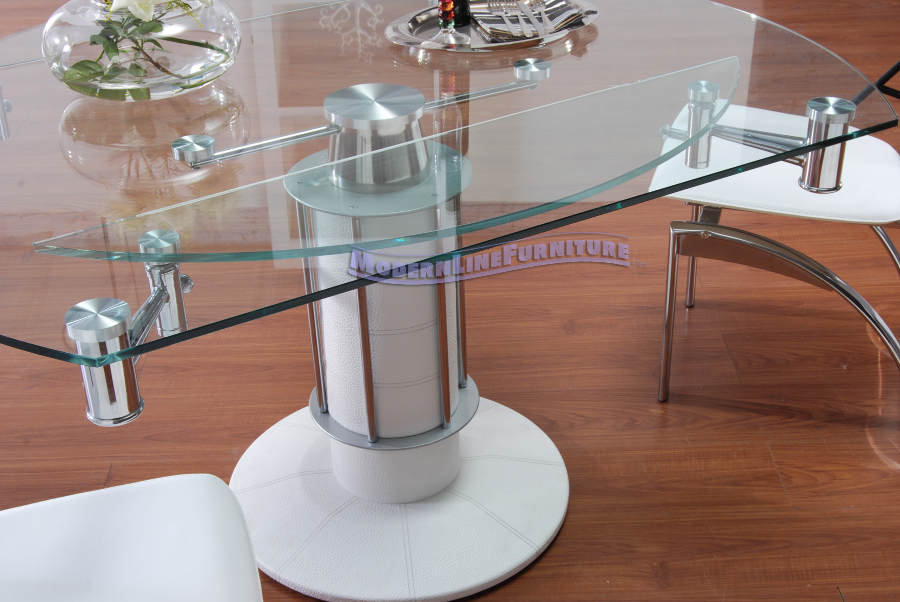 expandable dining table set with glass table and metal legs for dining room furniture ideas