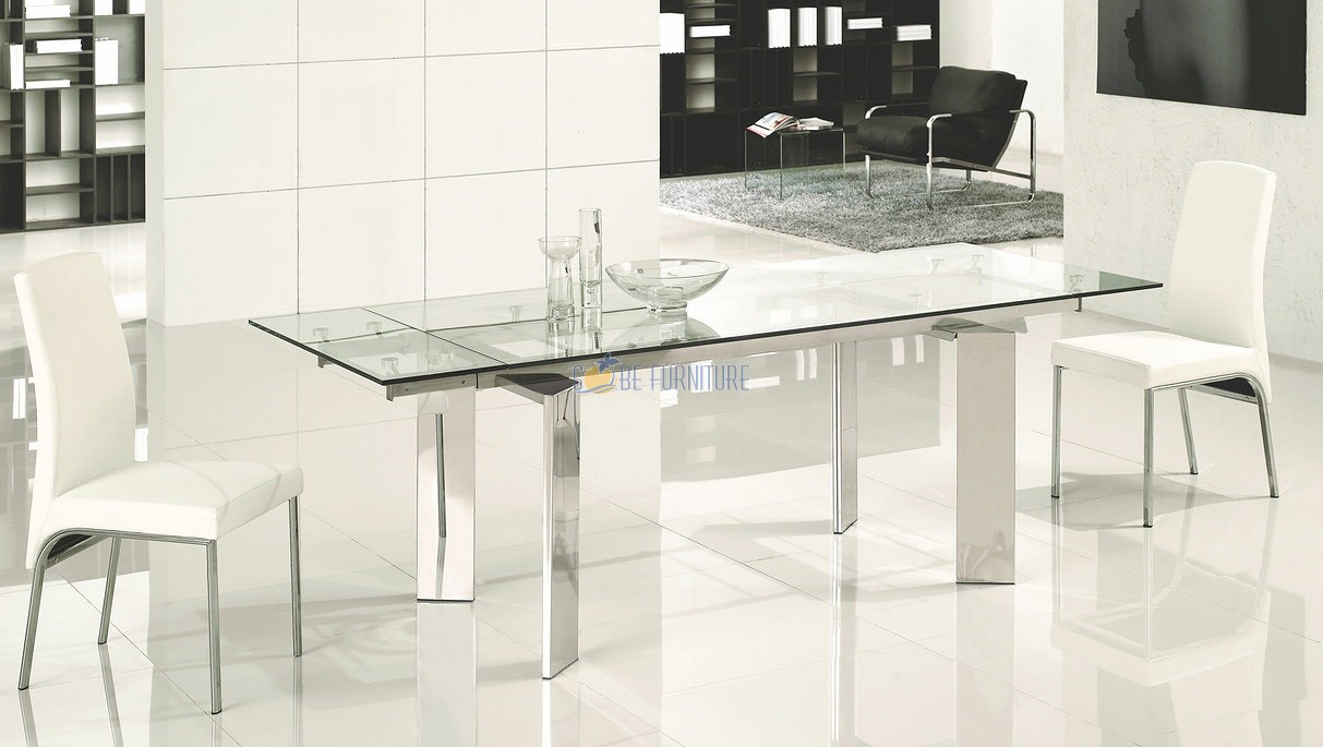 expandable dining table set with glass table for dining room furniture ideas