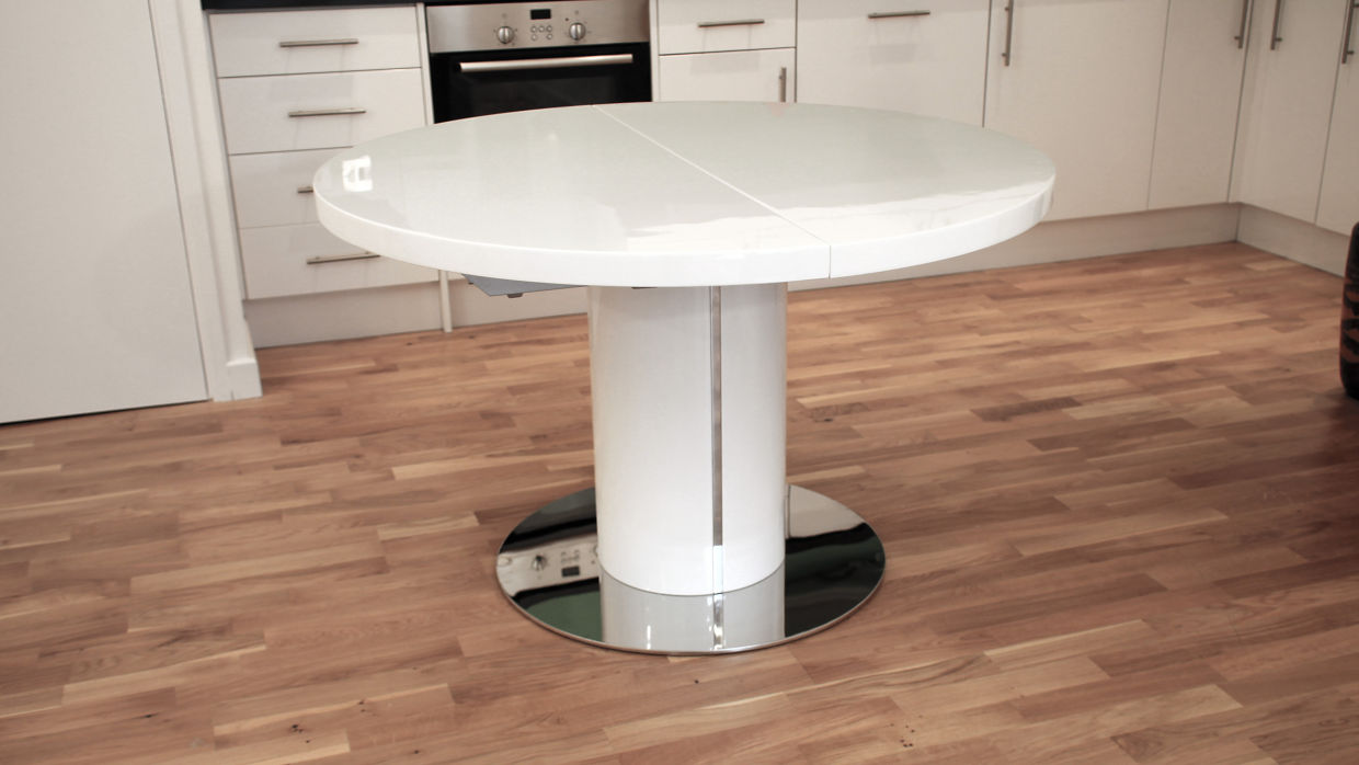 expandable dining table set with white round table