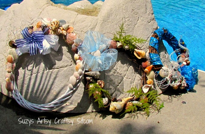 Feature Friday Summer Seashell Wreath With Flowers And Leafs For Wall Accessories Ideas