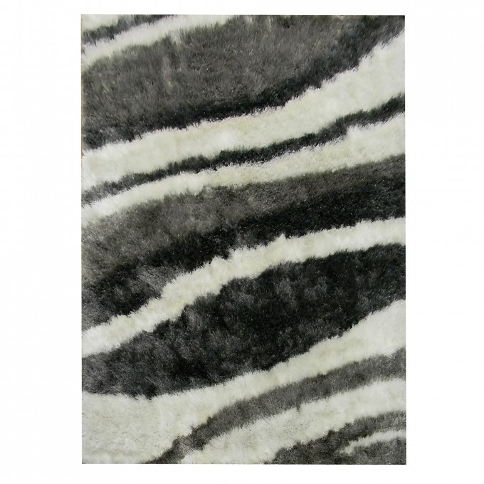 Flash Shaggy 5x7 Area Rugs In Black And White For Floor Decor Ideas