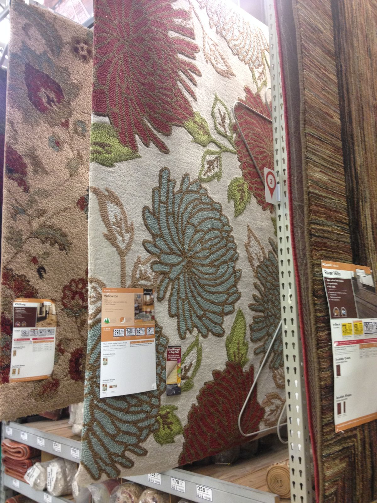 Make Your Floor More Beautiful With Elegant Lowes Rugs: Floral Lowes Rugs For Floor Decor Ideas