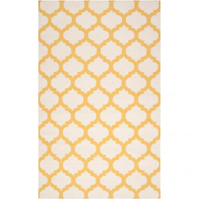 Frontier Moroccan Ivory & Gold Hand Woven Wool Surya Rugs For Floor Decor Ideas