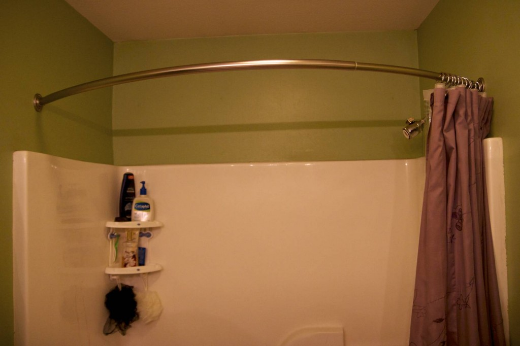 Bathroom: Decorative Curved Shower Curtain Rod For Bathroom Decor ...