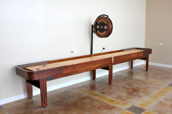 Grand Champion Brown Wooden Shuffleboard Table For Sale