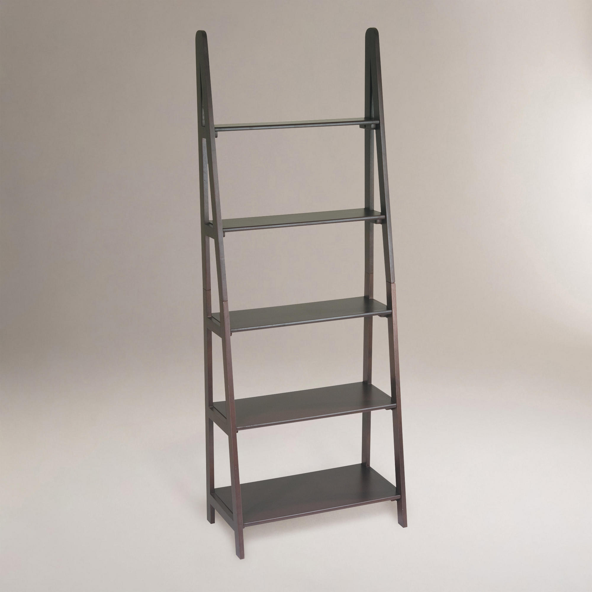 grey ladder bookshelf for home office furniture ideas