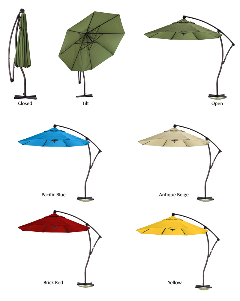 inspiring cantilever patio umbrella with options color for patio furniture ideas
