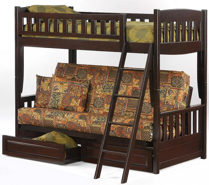 Inspiring Cheap Futons In Lovely Motif With Storage And Loft Plus Stair For Home Furniture Ideas