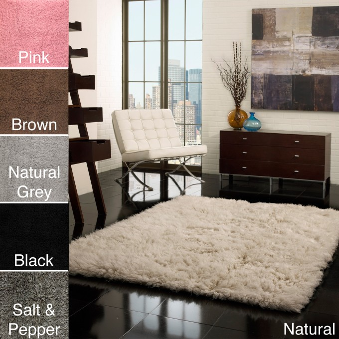 Inspiring Living Room Decor With 5x7 Area Rugs On Black Tile Flooring Plus White Sofa Ideas