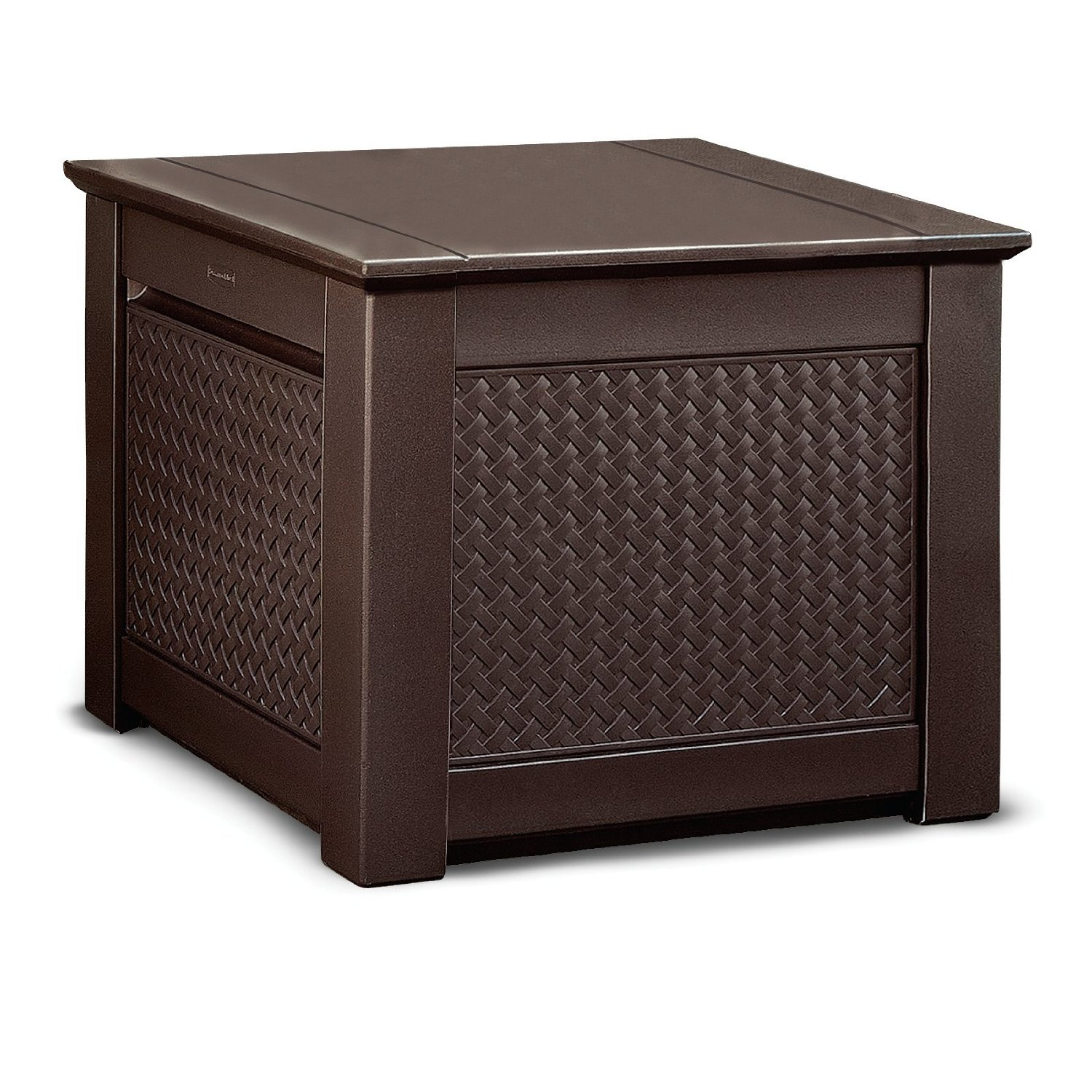 inspiring Suncast Deck Box Ideas in brown with seat for home furniture ideas