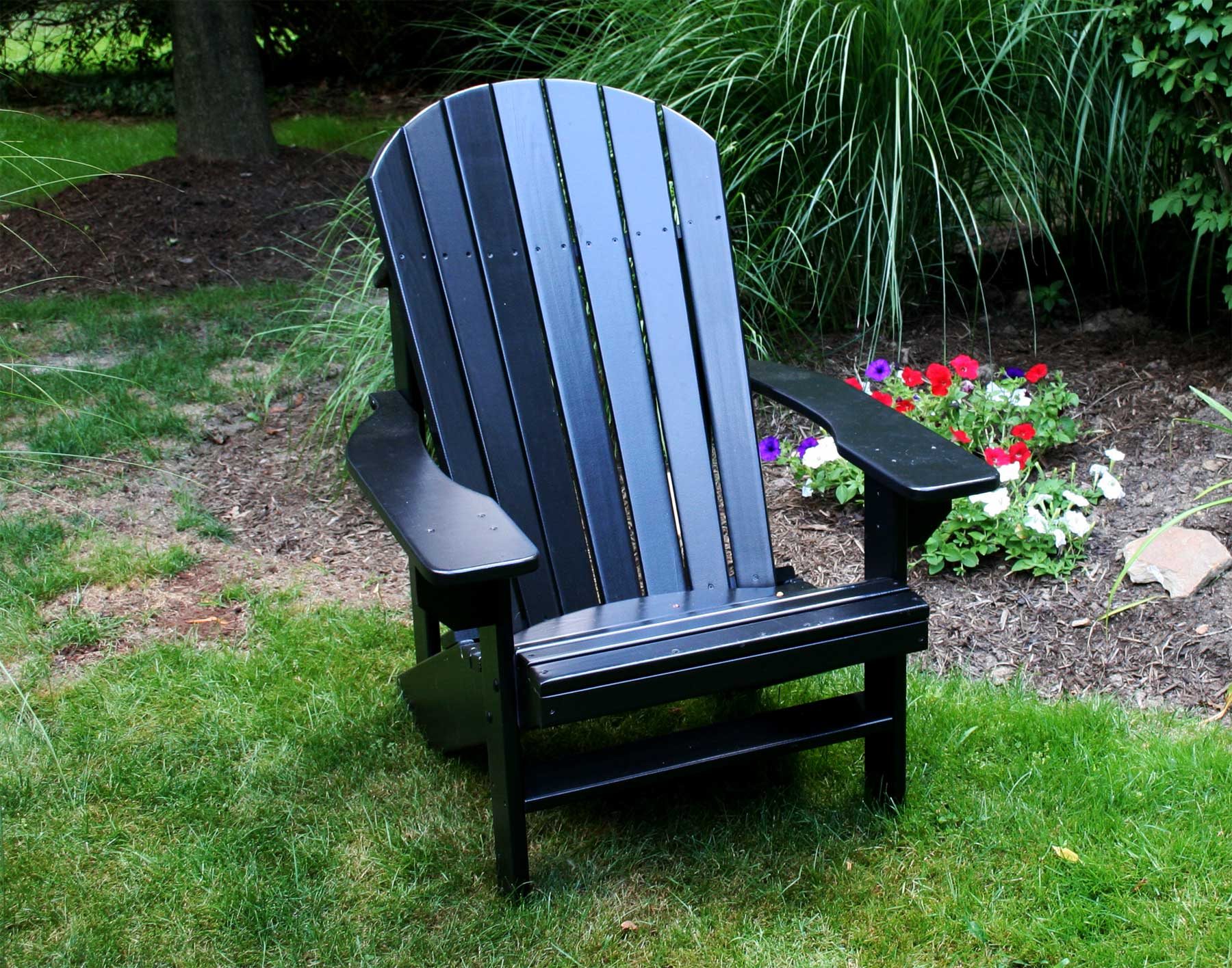 inspiring Teak Adirondack Chairs in black for outdoor furniture ideas