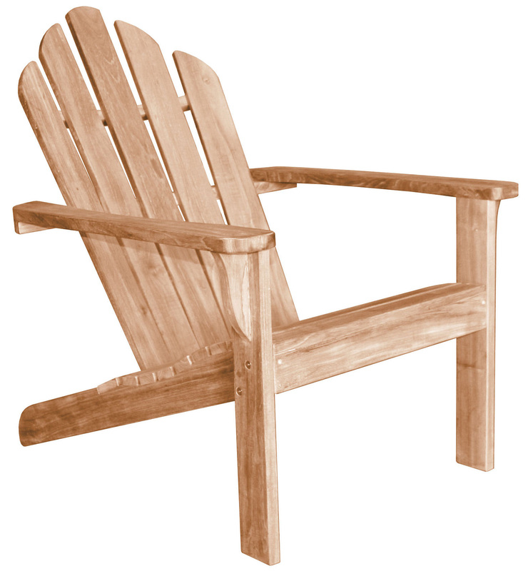furniture: charming and unique teak adirondack chairs for outdoor