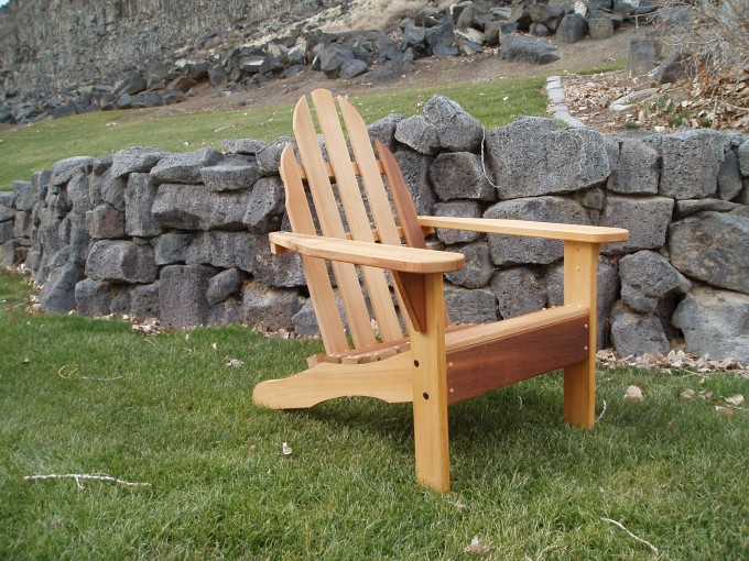 Inspiring Teak Adirondack Chairs In Cream For Outdoor Furniture Ideas
