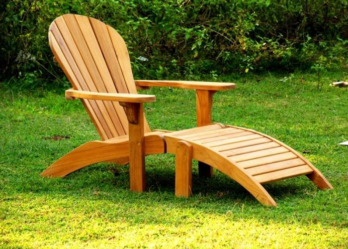 inspiring teak adirondack chairs in unique design for outdoor furniture ideas
