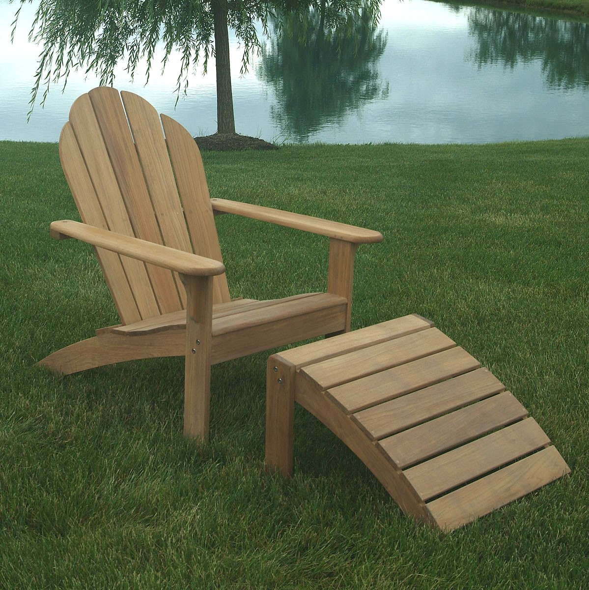 inspiring teak adirondack chairs with legs stand for outdoor furniture ideas
