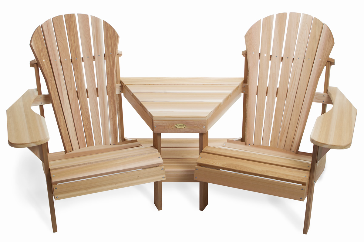 inspiring teak adirondack chairs with matching table for patio furniture ideas
