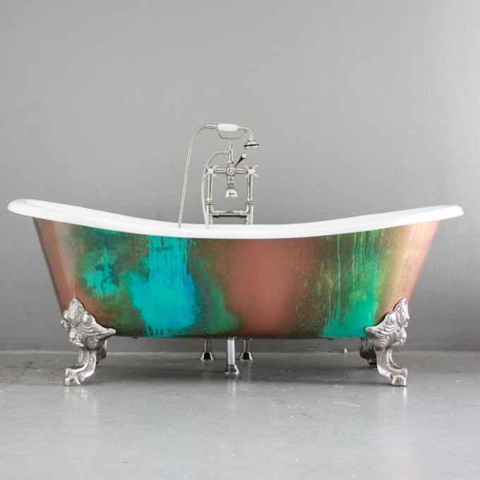 Interesting Bathup With Silver Clawfoot Tub With Shower Faucet For Bathroom Furniture Ideas