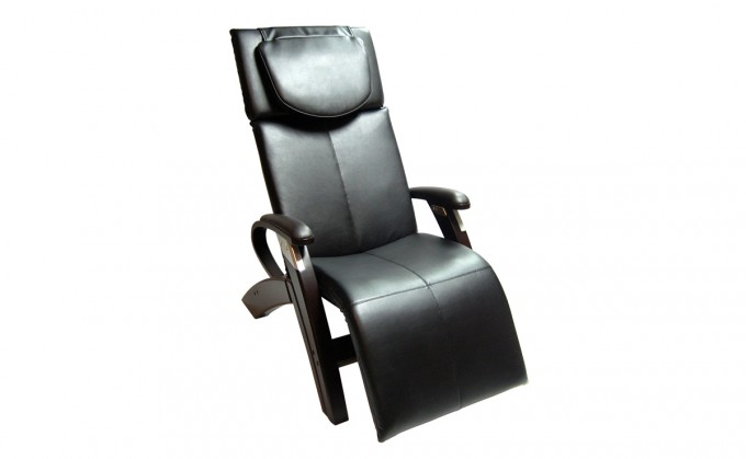 Interesting Zero Gravity Chair In Black Leather Seat And Wood Stand For Home Furniture Ideas