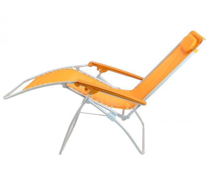 Interesting Zero Gravity Chair With Orange Seat And White Stand For Home Furniture Ideas