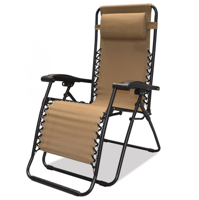 Intereting Zero Gravity Chair In Tan And Black Theme For Home Furniture Ideas