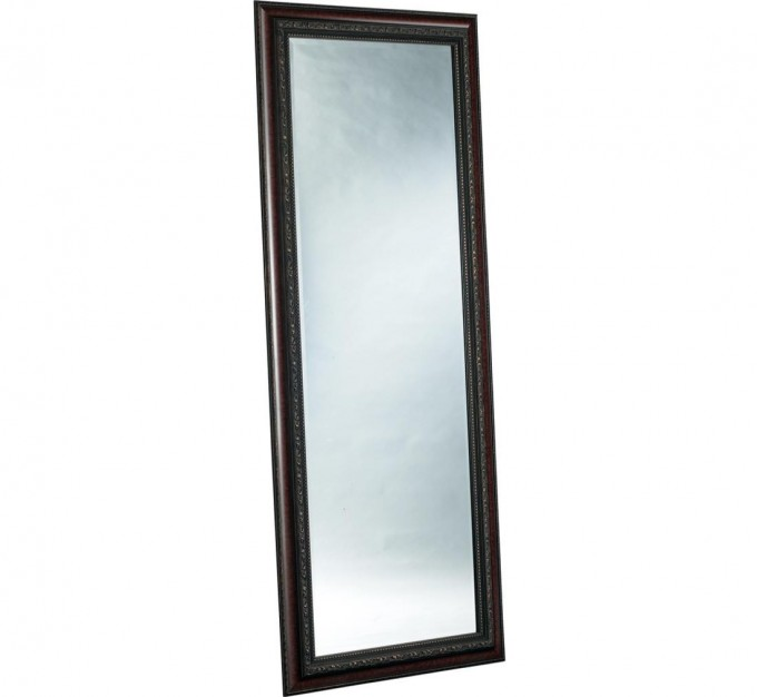 Leaner Mirror With Black Wooden Frame For Home Furniture Ideas