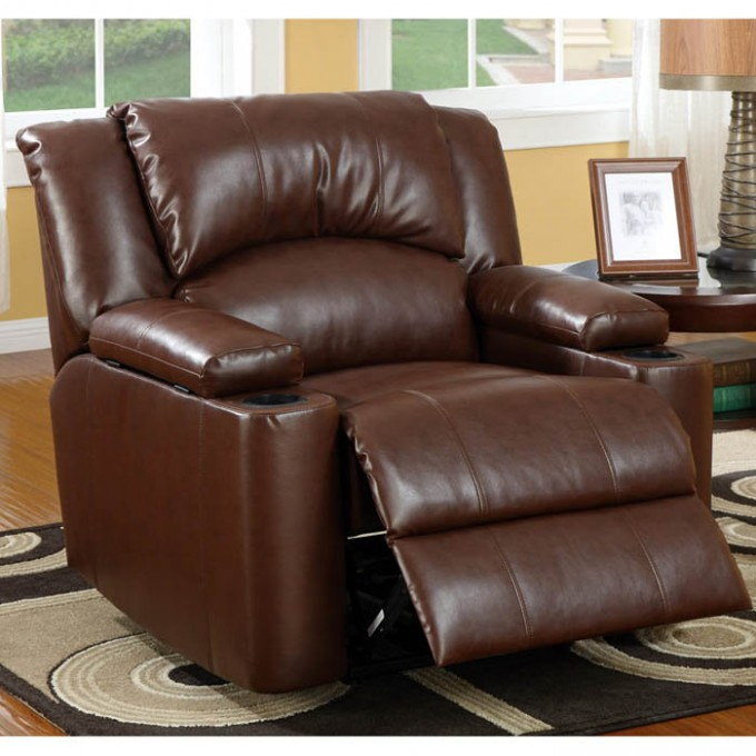 Leather Power Lift Recliners In Dark Brown On Carpet For Living Room Decor Ideas