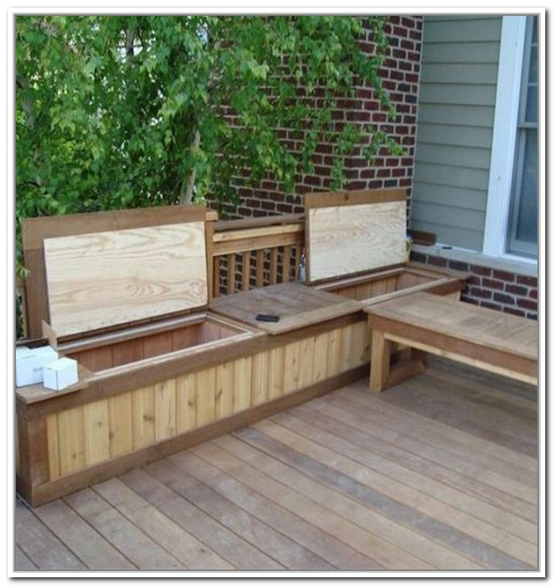 long wooden Suncast Deck Box Ideas on wooden floor for deck decor ideas