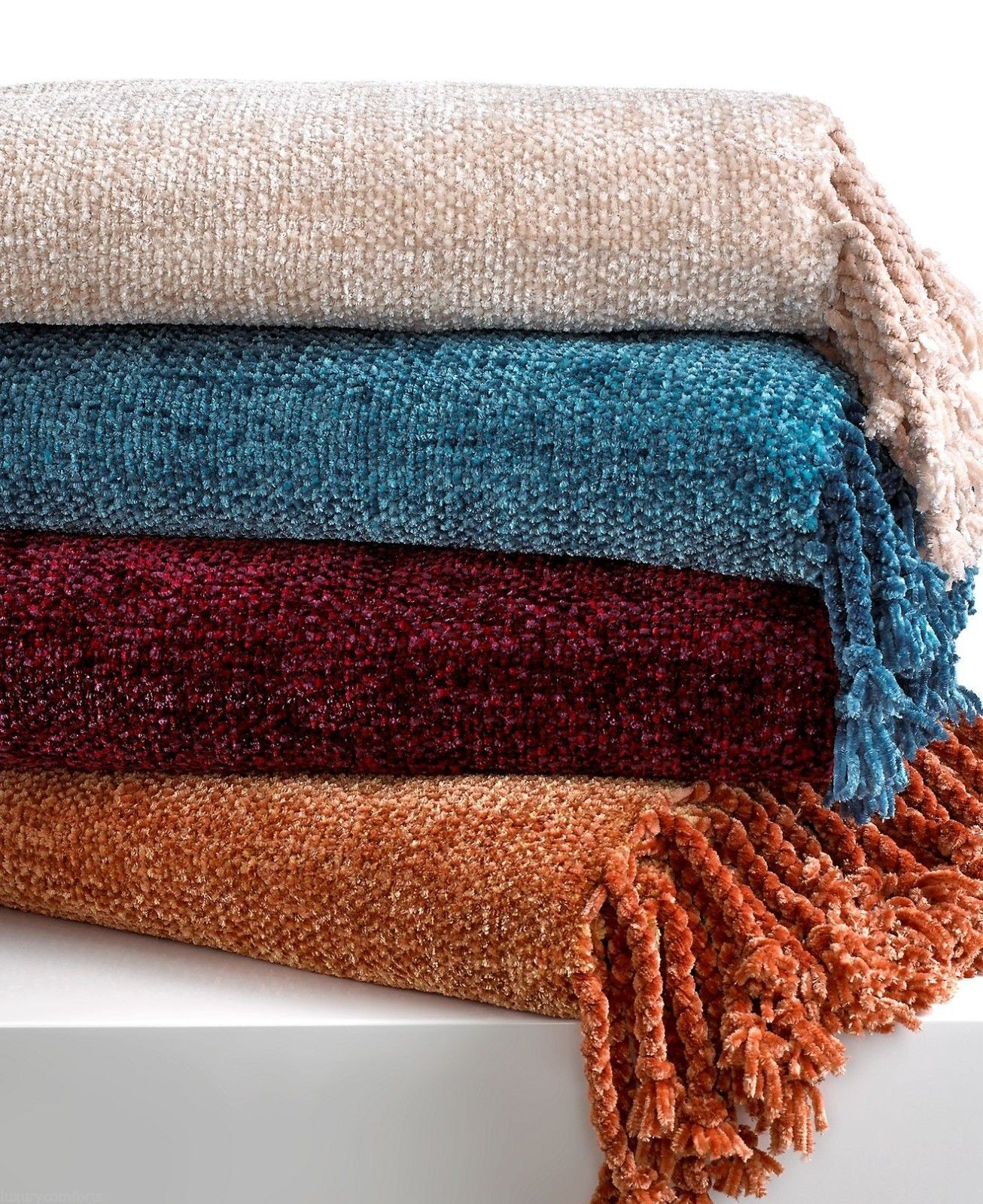 lovely chenille blanket in many option color ideas