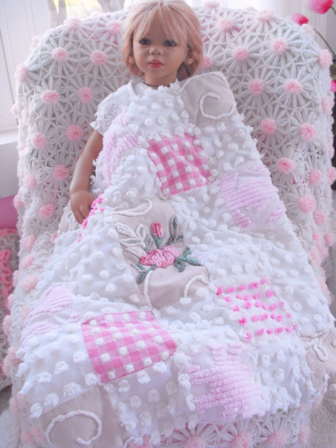 Lovely Chenille Blanket In Soft Color For Kids Blanket Ideas
