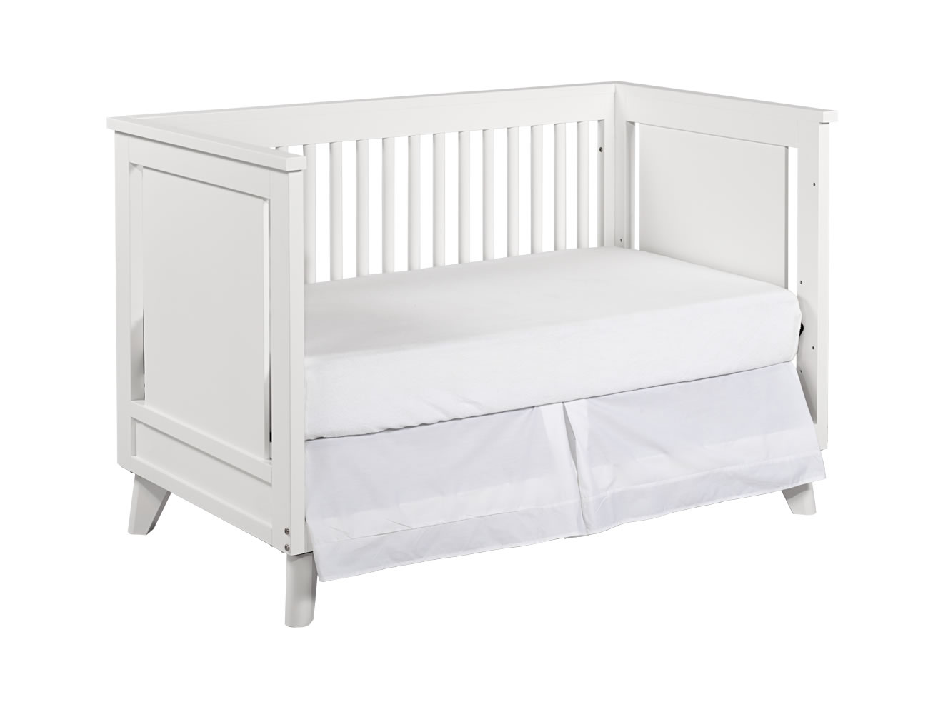lovely crib in solid white by munire crib for nursery furniture ideas