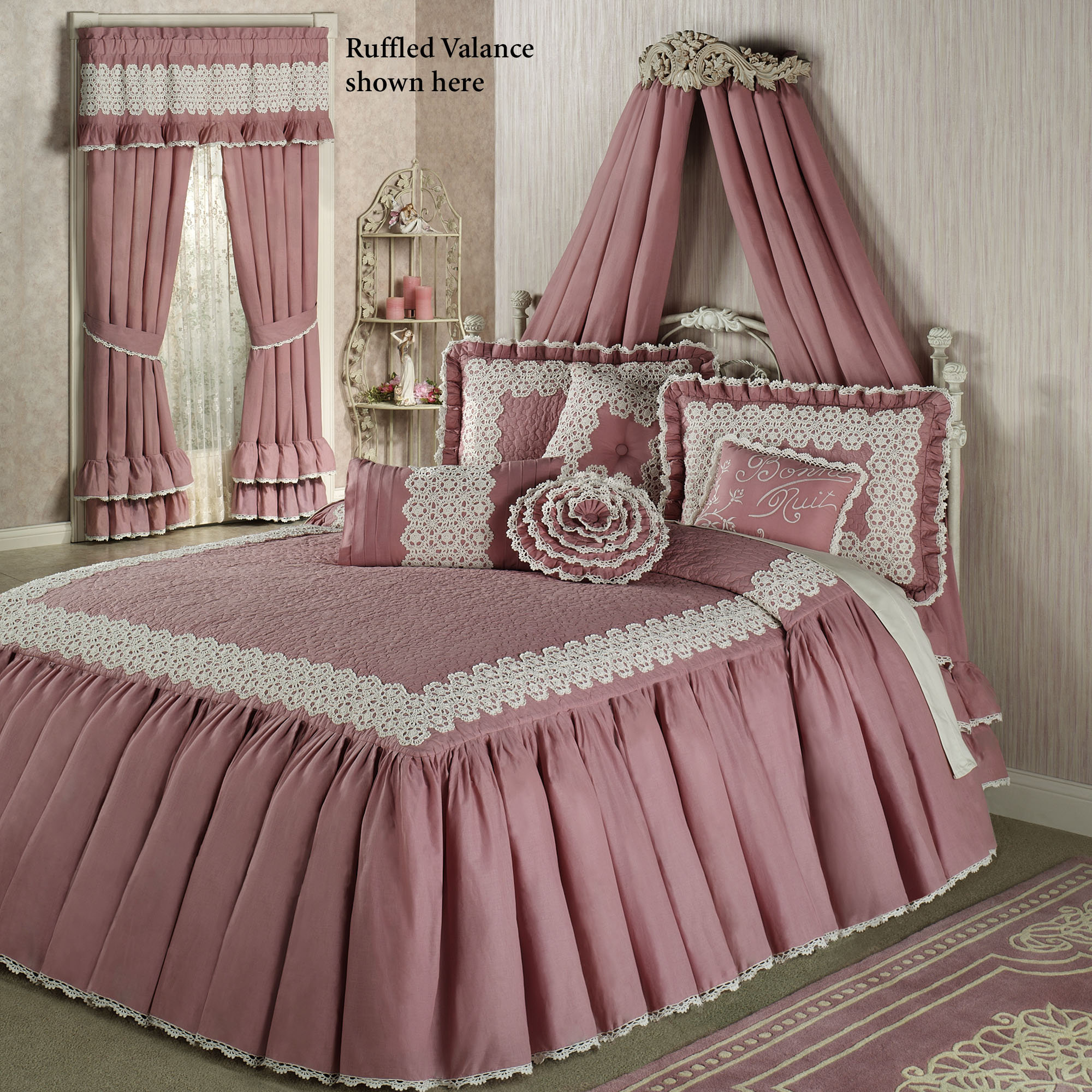 lovely laura ashley bedding in pink with pillow and matching curtain for bedroom decor ideas