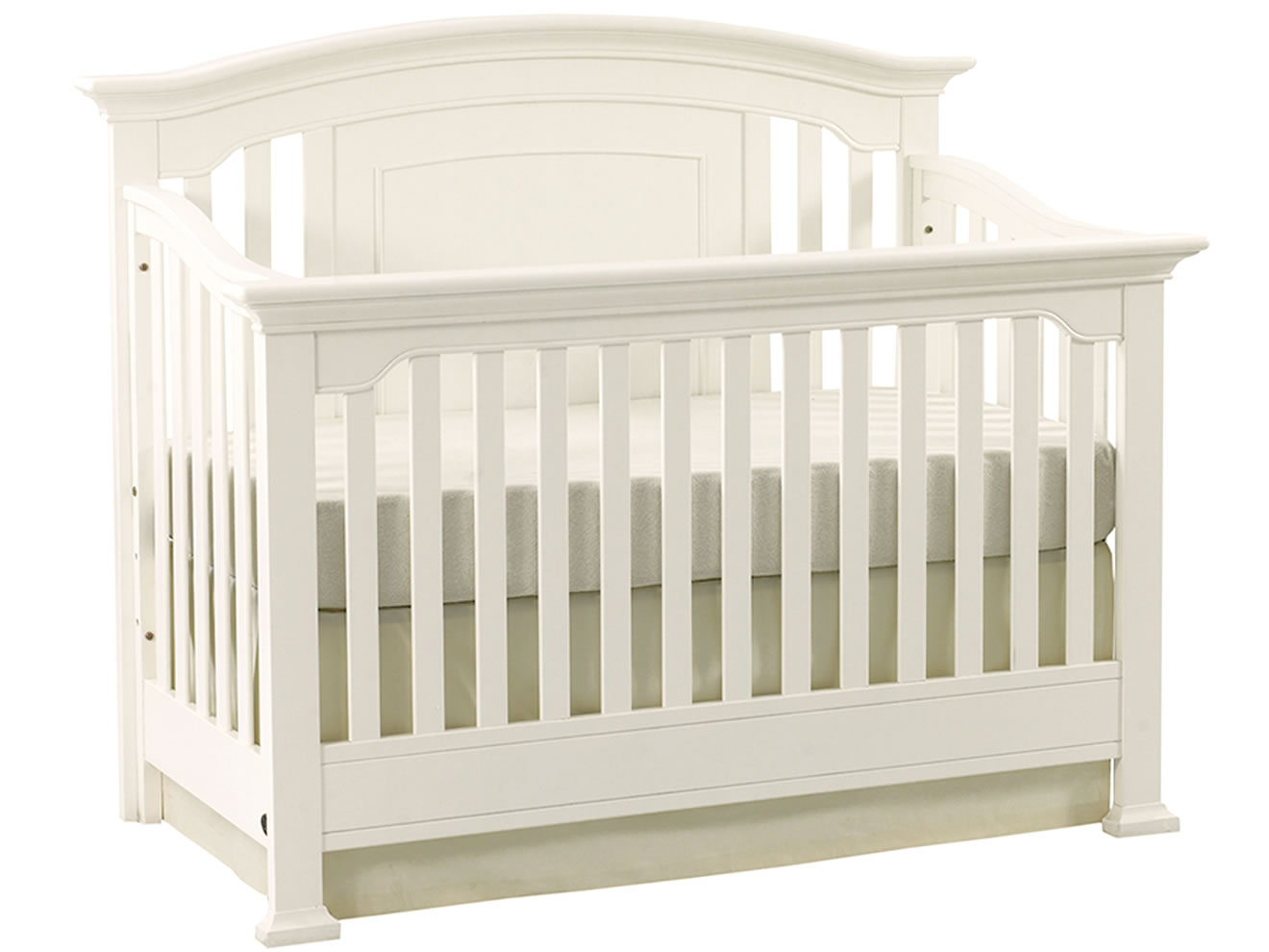 Lovely Wooden Crib In White Theme By Munire Crib For Nursery Furniture Ideas