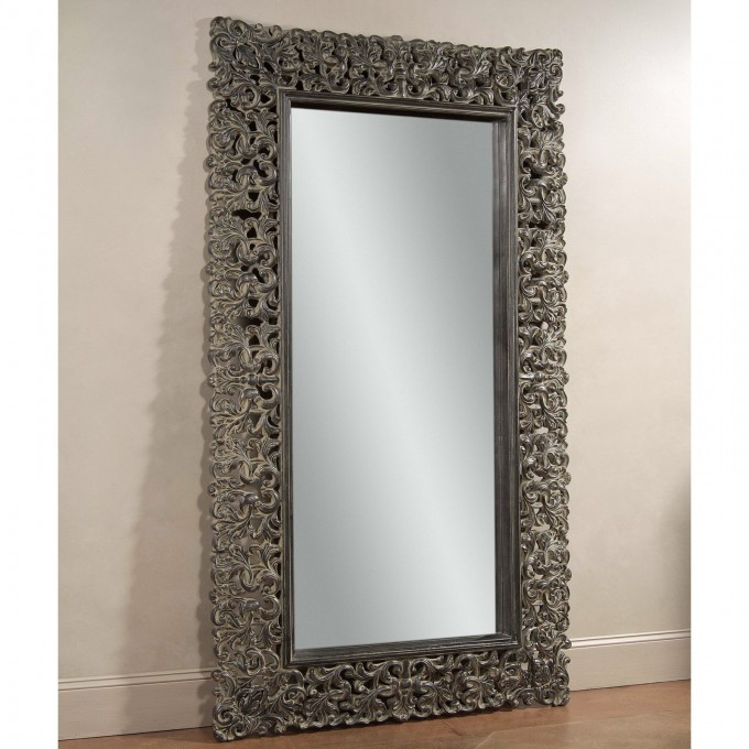 Maltese Leaner Mirror 48W X 87H On Wooden Floor Matched With White Wall For Home Decor Ideas
