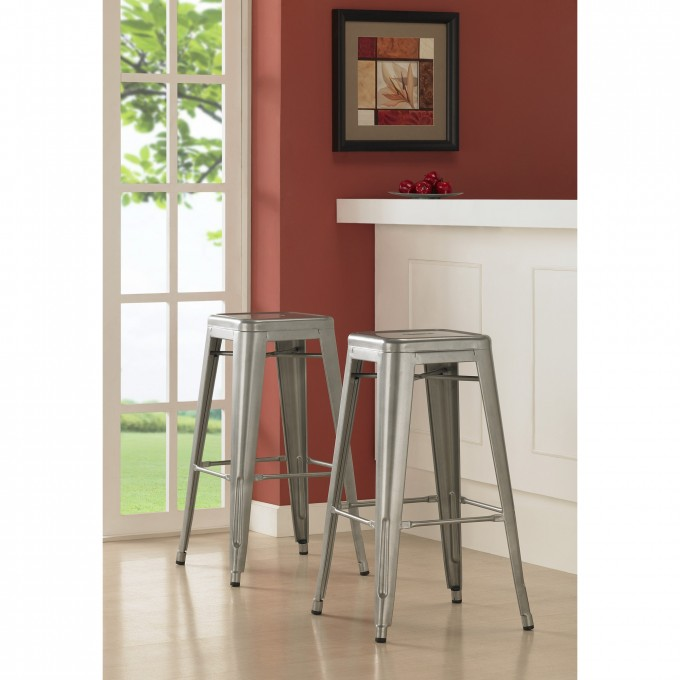 Metal 24 Inch Counter Stools In Grey For Home Furniture Ideas