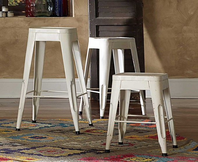 Metal 24 Inch Counter Stools In White For Home Furniture Ideas