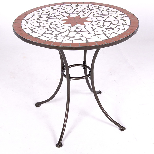 mosaic bistro table with black legs for home furniture ideas