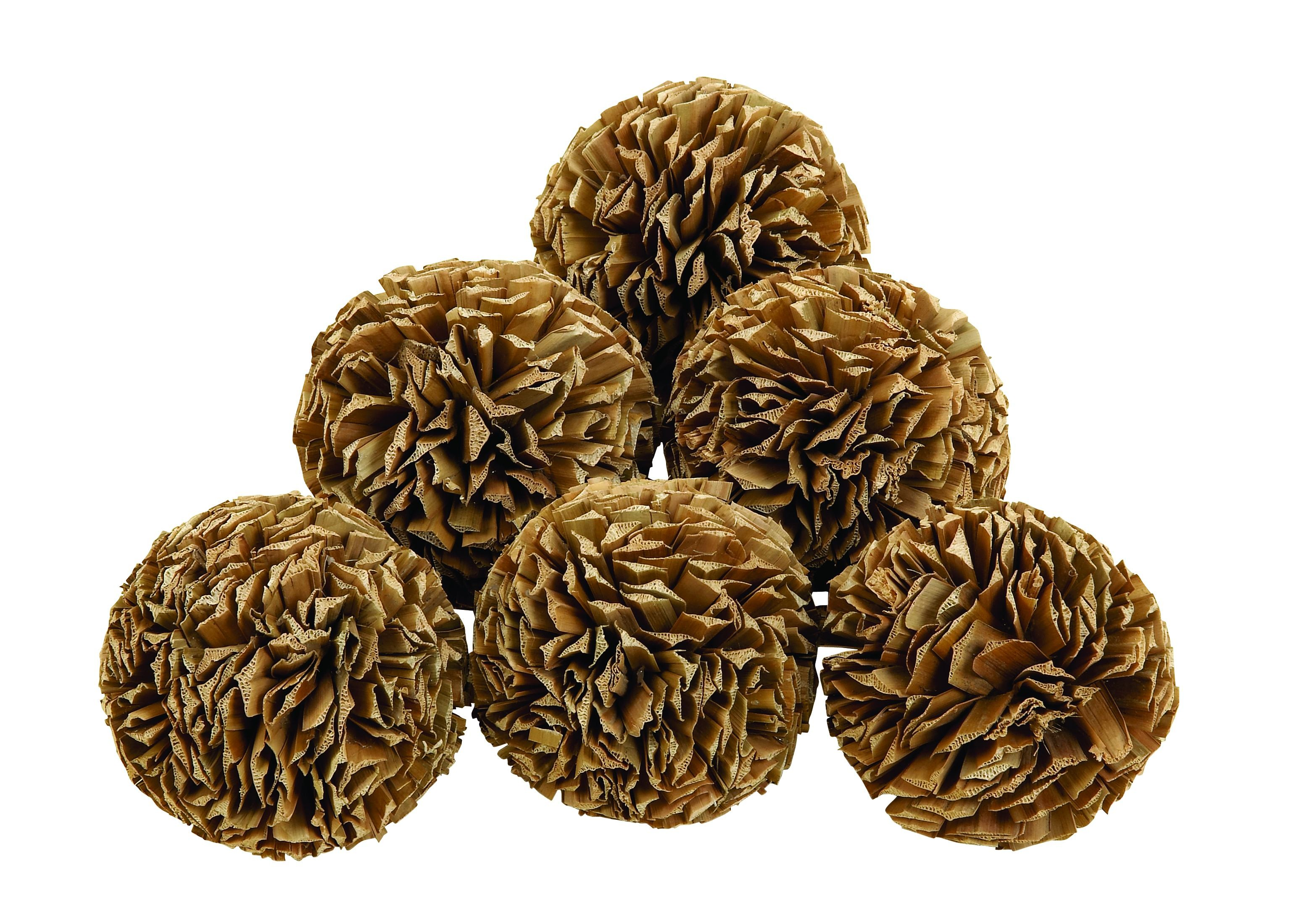 natural decorative orbs in brown for home or especially for table accessories ideas