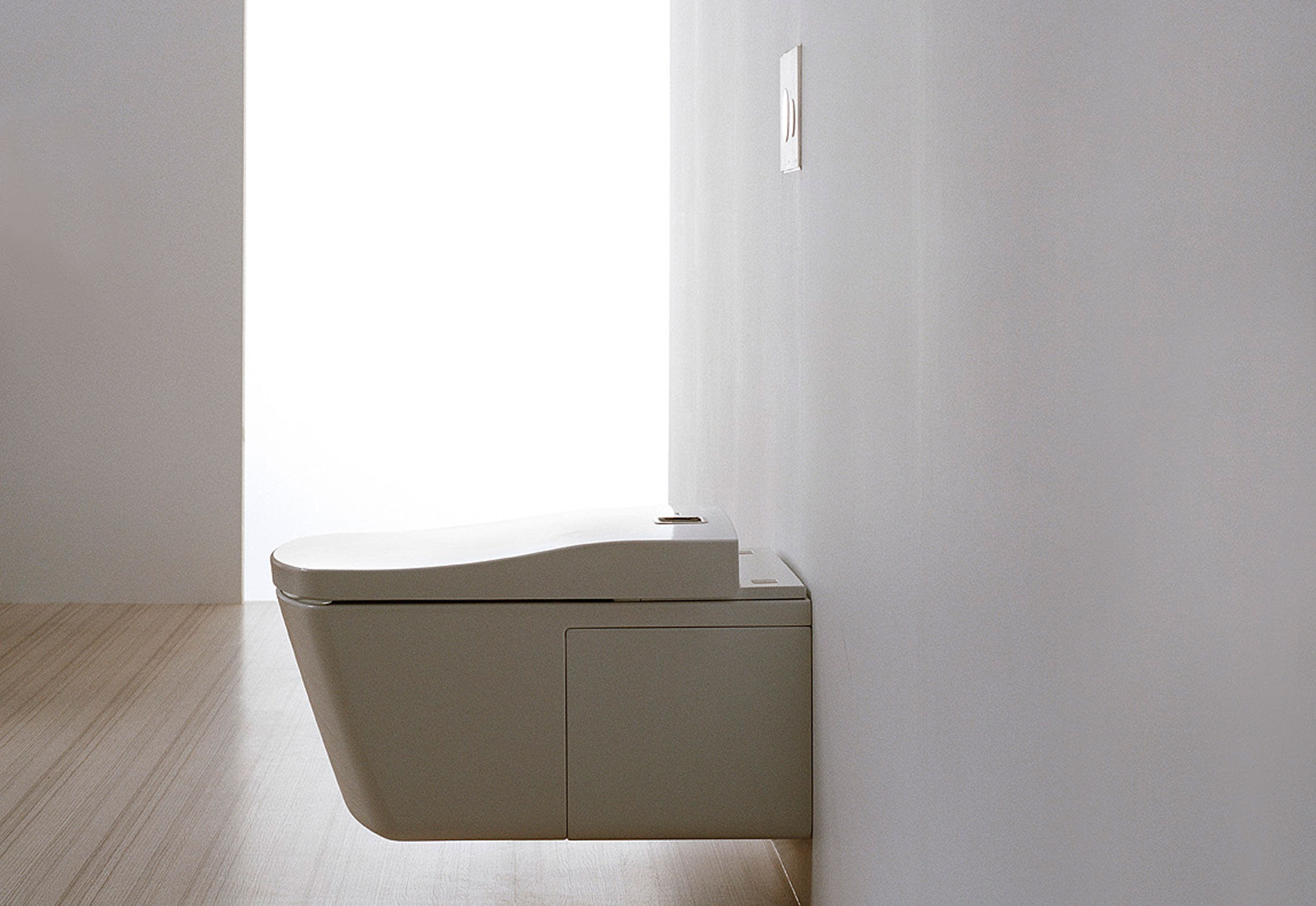 NEOREST Series LE toilet by TOTO toilets design on white wall for toilet decor ideas