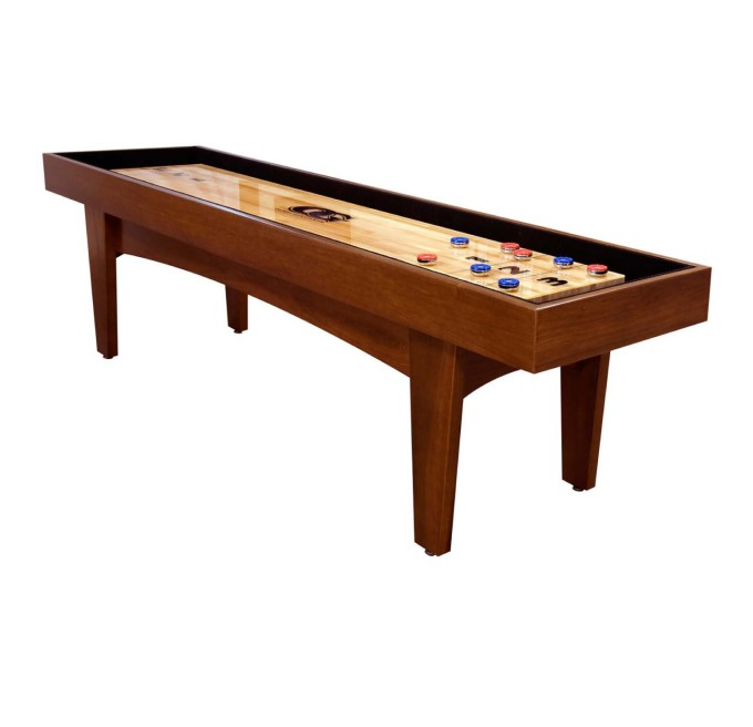 Olhausen Brown Wooden Shuffleboard Table For Sale