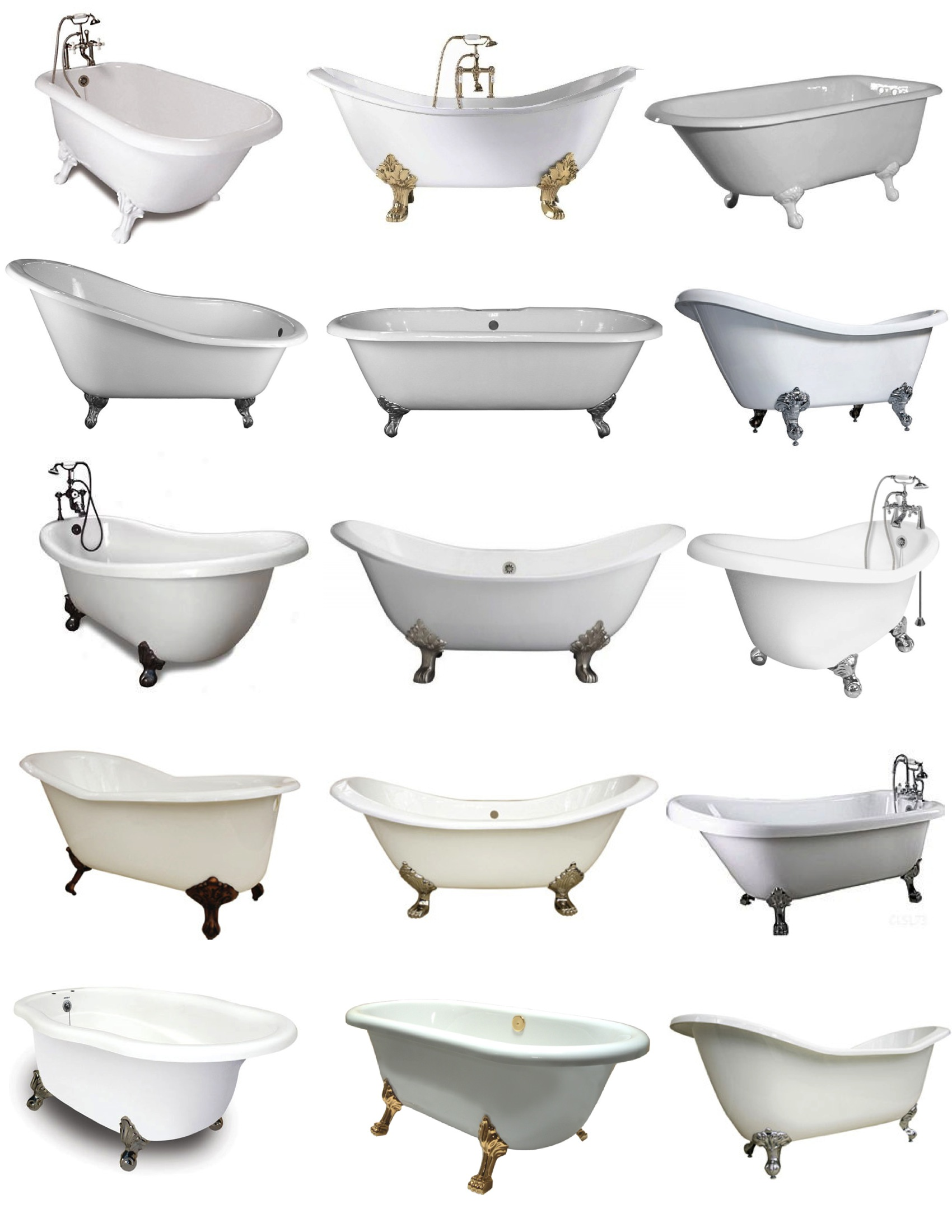 Options Of Interesting Clawfoot Tub For Bathroom Furniture Ideas