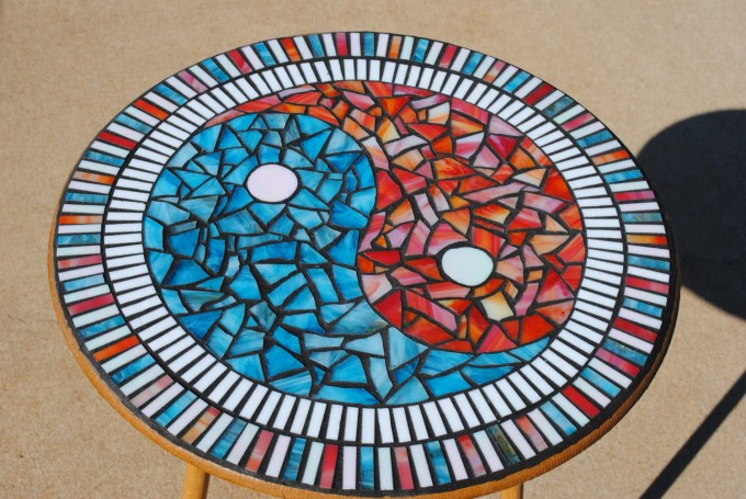 Popular Items For Mosaic Bistro Table With Yin Yang Motif For Home Furniture Ideas